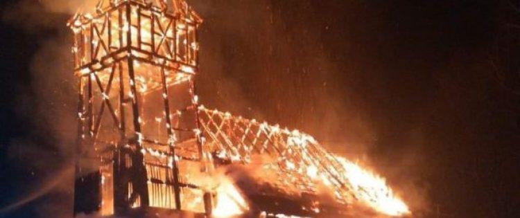Spłonął kościół w Kasparusie